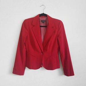 Bebe Red Fitted Blazer